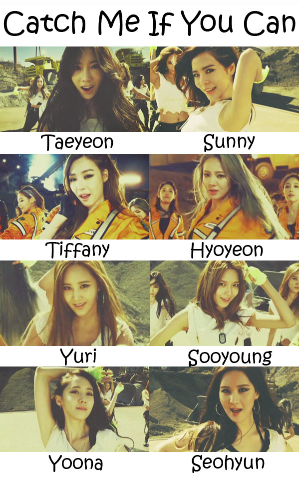 "The members of Girl's Generation ""SNSD"" in the ""Catch Me If You Can"" MV"