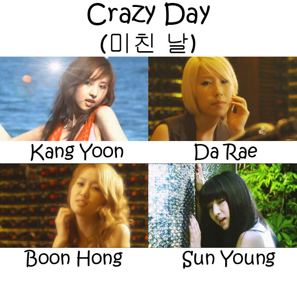 "The members of Blady in the ""Crazy Day"" MV"