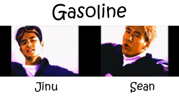 "The members of Jinusean in the ""Gasoline"" MV"