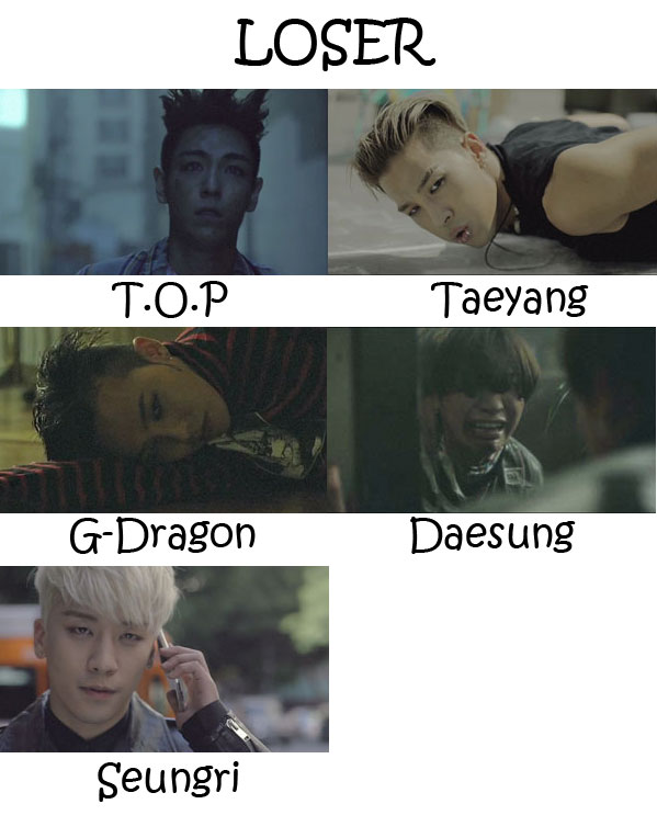 "The members of Big Bang in the ""LOSER"" MV"