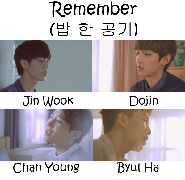 "The members of HeartB in the ""Remember"" MV"