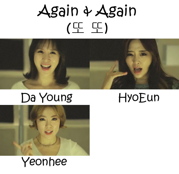 "The members of A-Plus in the ""Again & Again"" MV"