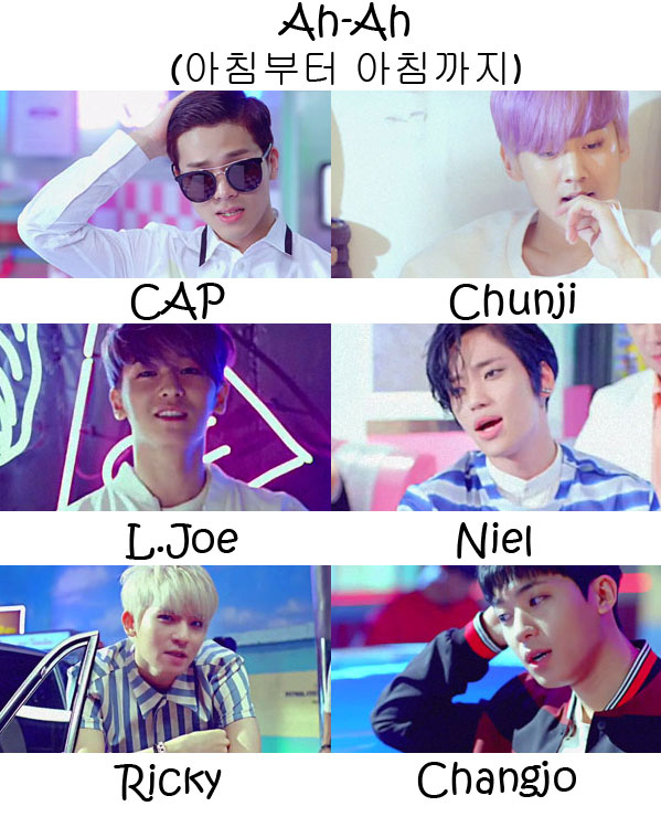 "The members of Teen Top in the ""Ah-Ah"" MV"