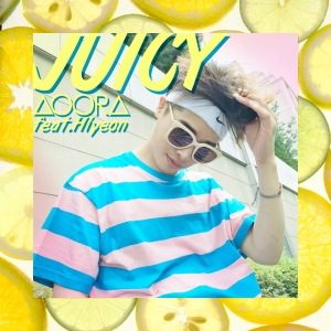 "Album art for AOORA's album ""Juicy"""