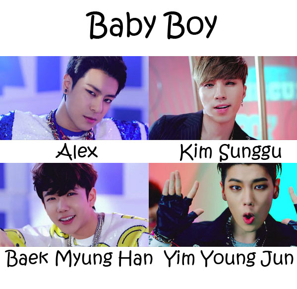 "The members of High4 in the ""Baby Boy"" MV"