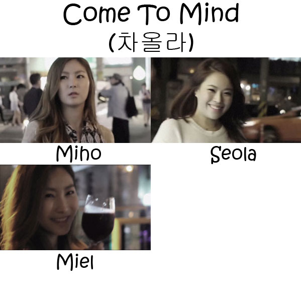 "The members of Bay.B in the ""Come To Mind"""