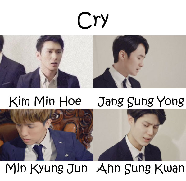 "The members of Intense in the ""Cry"" MV"