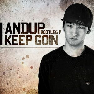 "Album art for AndUp's album ""I Keep Going"""
