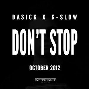 "Album art for Basick's album ""Don't Stop"""