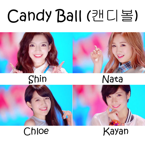 "The members of As 1 in the ""Candy Ball"" MV"