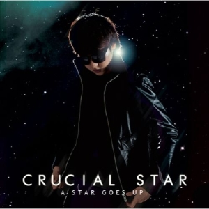 "Album art for Crucial Star's album ""A Star Goes Up"""