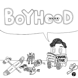 "Album art for Crucial Star's album ""Boyhood"""