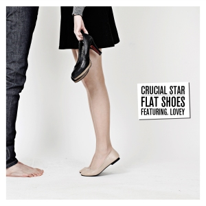 "Album art for Crucial Star's album ""Flat Shoes"""