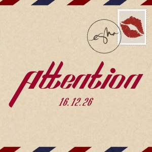 "Album art for eSNa's album ""Attention"""