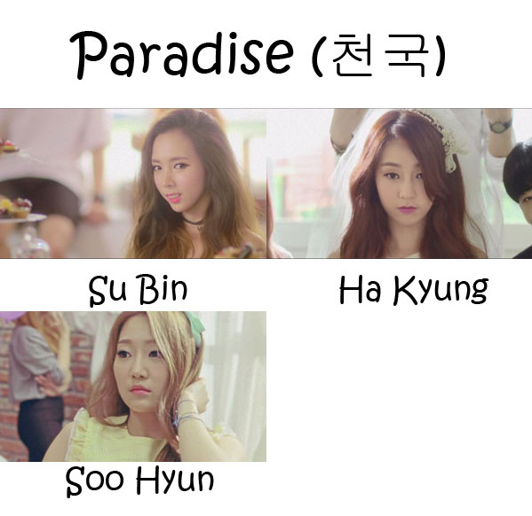 """The members of N*White in the """"Paradise"""" MV"""
