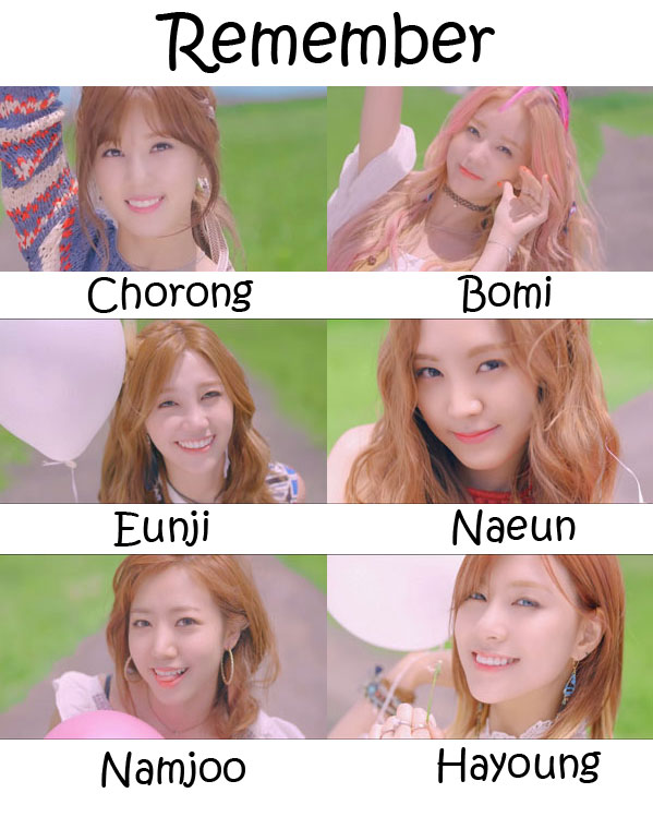 "The members of APink in the ""Remember"" MV"