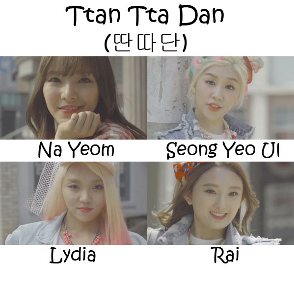 "The members of A.N.D.S in the ""Ttan Tta Dan"" MV"