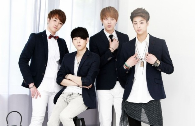 "1TensioN's ""1st Single"" promotional picture."