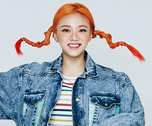 "2Eyes' Daeun ""Pippi"" promotional picture."