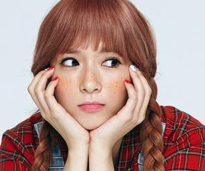 "2Eyes' Hyang Sok ""Pippi"" promotional picture."