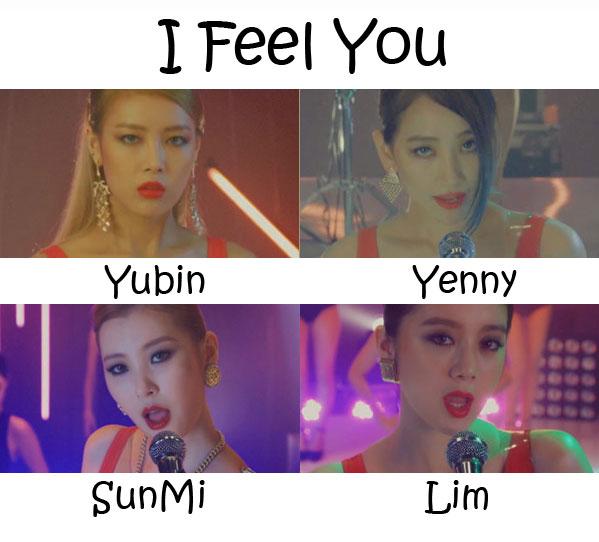 "The members of Wonder Girl's in the ""I Feel You"" MV"