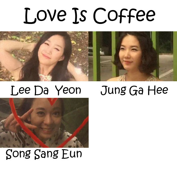 "The members of Taurine in the ""Love Is Coffee"" MV"