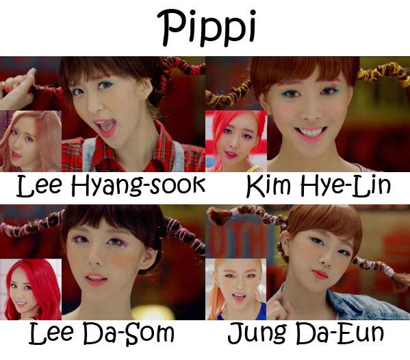"The members of 2EYES in the ""Pippi"" MV"
