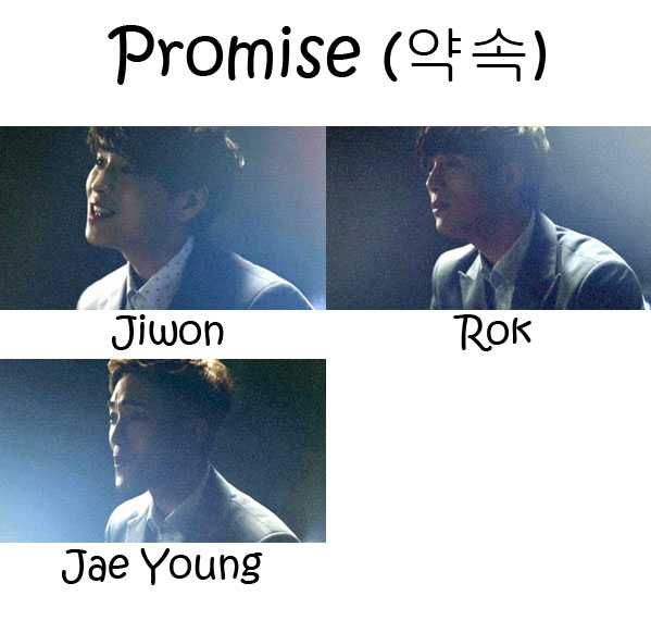 "The members of Ten Yard in the ""Promise"" MV"