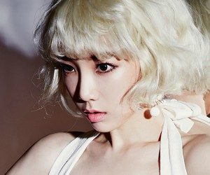 "SNSD's Taeyeon ""Lion Heart"" promotional picture."