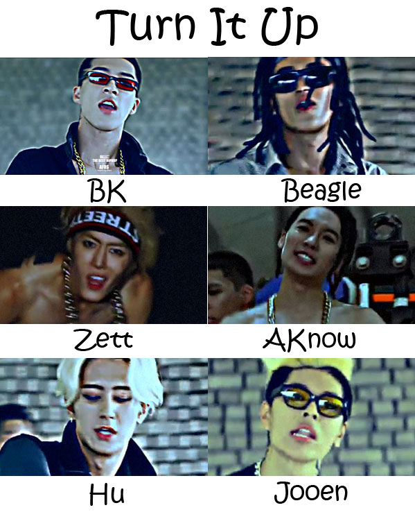 """The members of Afos in the """"Turn It Up"""" MV"""