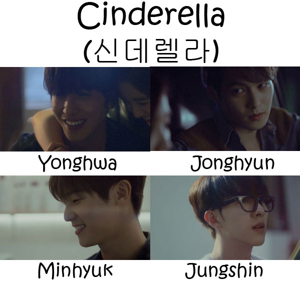 "The members CNBLUE in the ""Cinderella"" MV"
