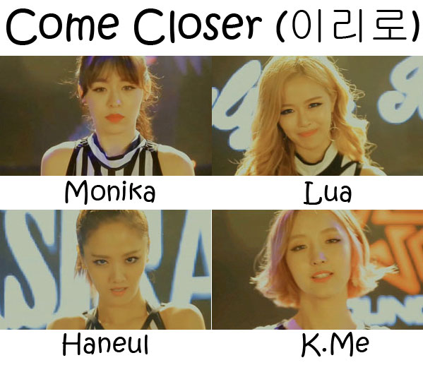 "The members of Badkiz in the ""Come Closer"" MV"