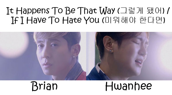"The members of Fly To The Sky (FTTS) in the ""It Happens To Be That Way / If I Have To Hate You"" MVs"