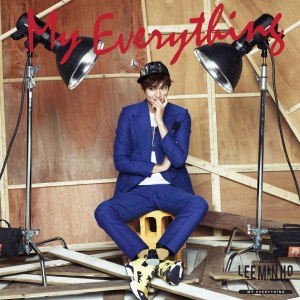 "Album art for Lee Min Ho's album ""My Everything"""