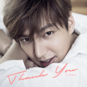 "Album art for Lee Min Ho's album ""Thank You"""