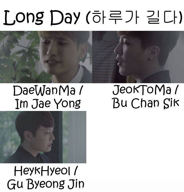 "The members of DiaTree in the ""Long Day"" MV"