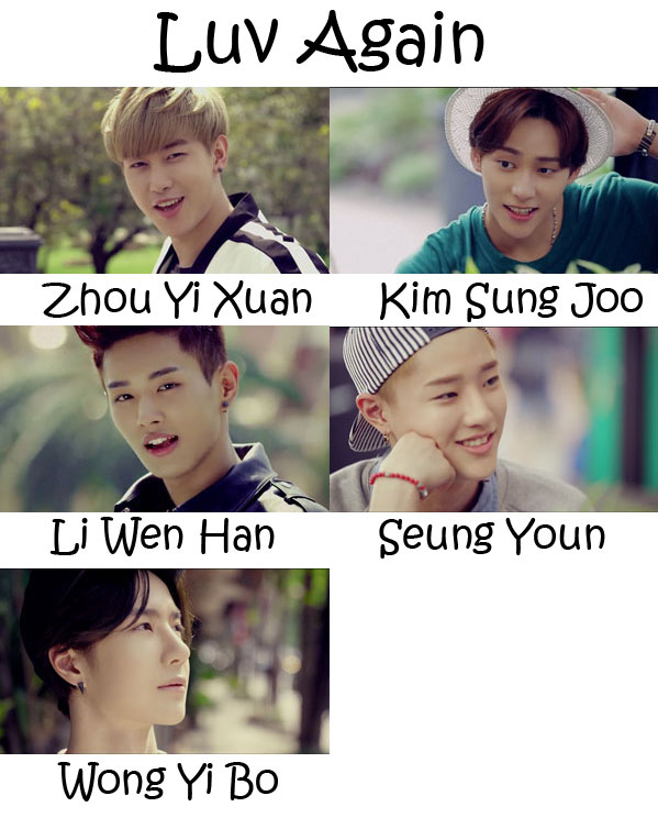"The members of UNIQ in the ""Luv Again"" MV"