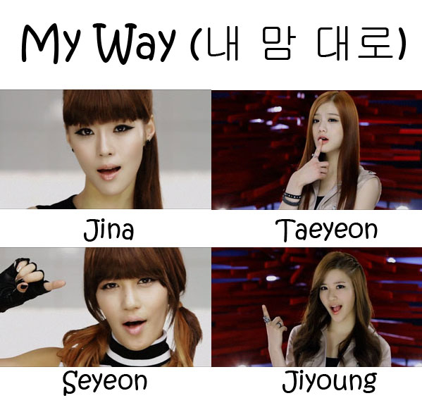 "The members of She'z in the ""My Way"" MV"