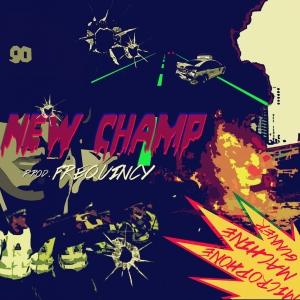 "Album art for New Champ's album ""Microphone Machine Gunner"""