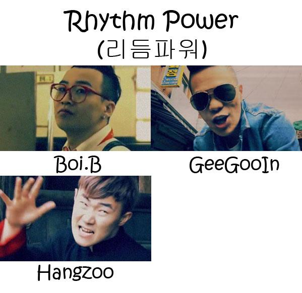 "The members of Rhythm Power in the ""Rhythm Power"" MV"