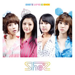 "Album art for She'z album ""She'z Love Sick"""