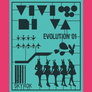 "Album art for Vividivia's album ""VIVIDIVA Evolution 1"""
