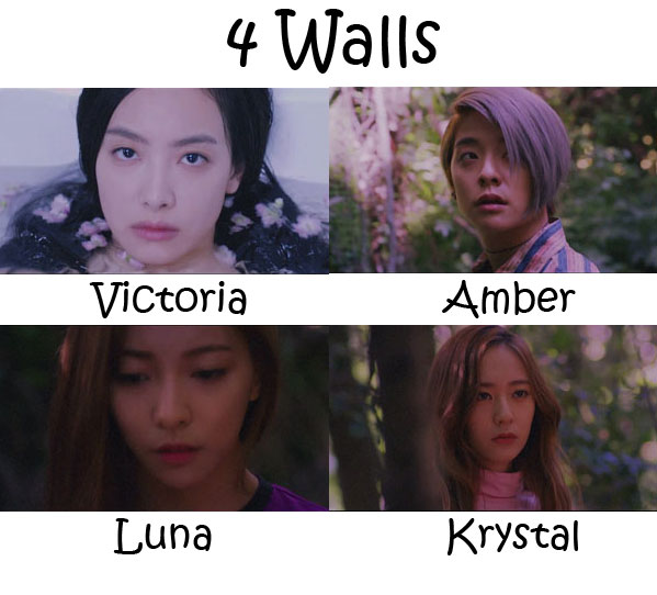 "The members of F(x) in the ""4 Walls"" MV"