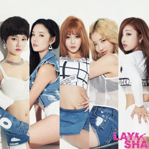 "Album art for LAYSHA's album ""Turn Up The Music"" MV"