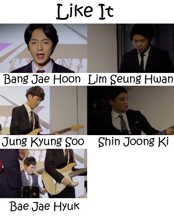 """The members of Humble in the """"Like It"""" MV"""