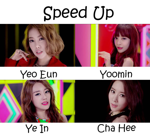 "The members of Melody Day in the ""Speed Up"" MV"