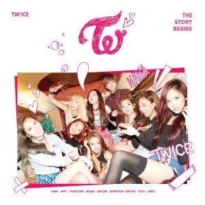 "Album art for Twice's album ""The Story Begins"""