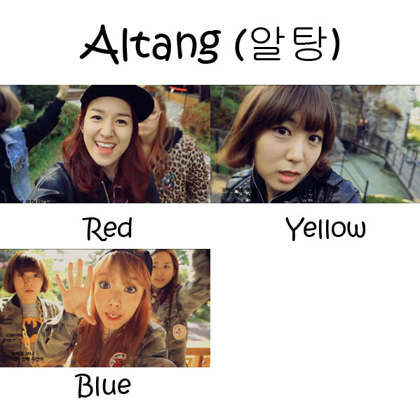 """The members of Pungdeng-E in the """"Altang"""" MV"""