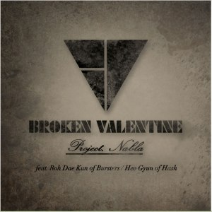 "Album art for Broken Valentine's album ""Project. Nabla"""