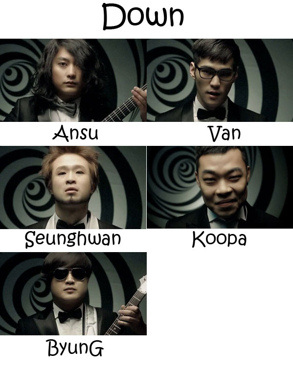 "the emmbers of Broken Valentine in the ""Down"" MV"